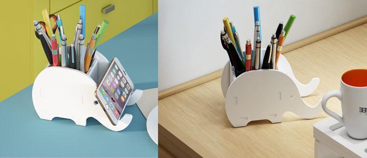 Hộp đựng bút đa năng vừa sử dụng để đựng bút vừa để điện thoại